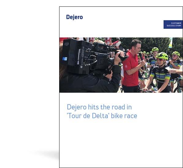 Dejero EnGo used in Tour de Delta bike race