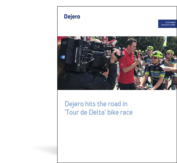 Dejero EnGo used in Tour de Delta bike race